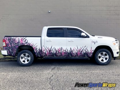 Grass and Cattails Muddy Girl Camo kit for trucks. pre-cut ready to install. Produced on 3M film