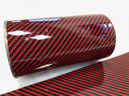 Deep-red-carbon-fiber with gloss finish