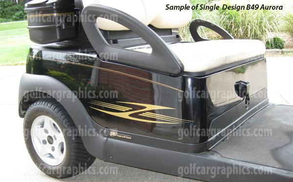 Aurora graphics kit for golf carts-Aurora Single Color Design