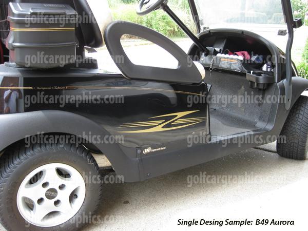 Aurora golf cart decal kit