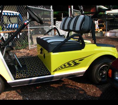 Indy golf cart decal kit