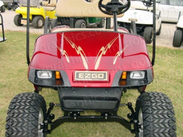 Craving golf cart decal kit gold met