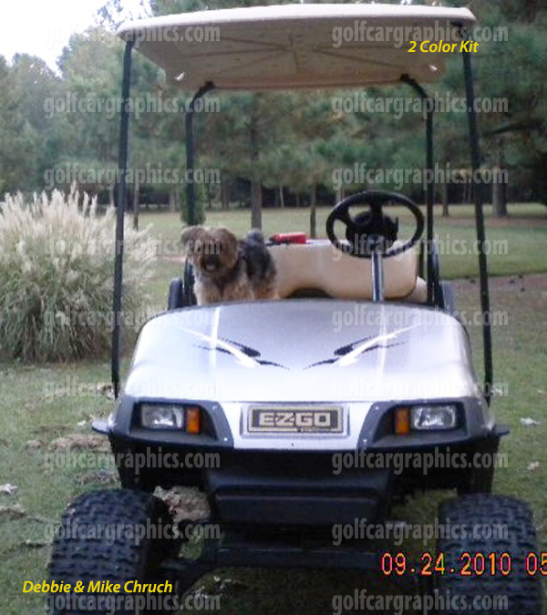 golf cart design cosmic 2 colors