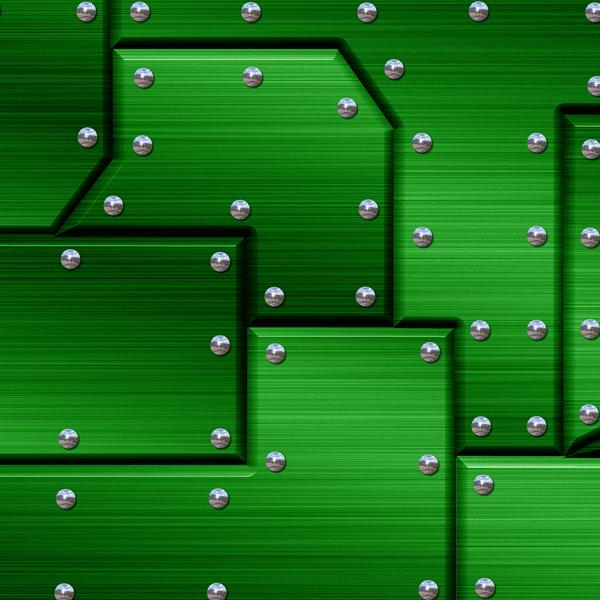 Riveted Metal Green