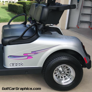 Craving golf car decal kit FCL3 Purple Combo