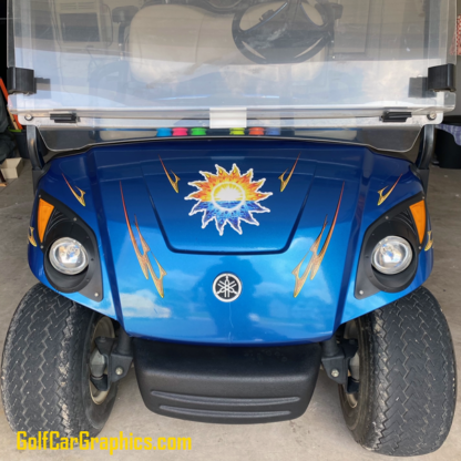 Daisy-graphics-kit-for-golf-car-in-Yellow-Combo