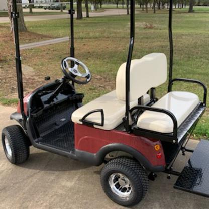 Deep-Red-Black-carbon-fiber-golf-car-wrap kit