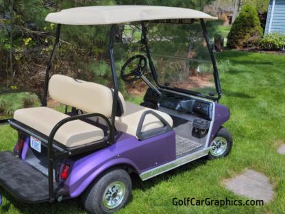 Matte-Purple-Metallic-full-body-golf-car-wrap-kit