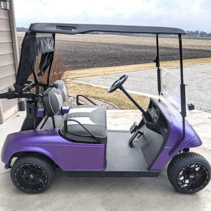 Matte Purple Metallic DIY golf cart wrap kit