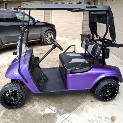 Matte Purple Metallic wrap kit for gollf cars