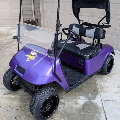 Matte Purple Metallic vinyl DIY golf cart wrap