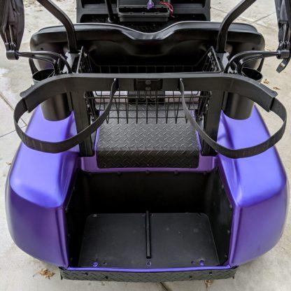 Matte Purple Metallic golf car wrap rear
