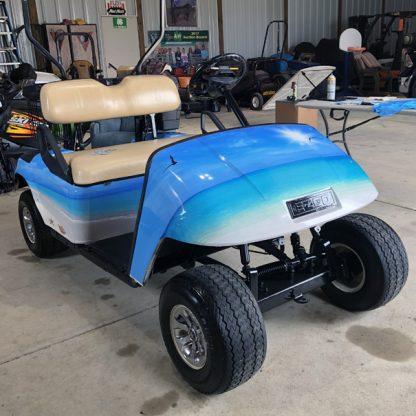 golf cart wrap Tropical-Beach-golf-car-wrap kit for all models.