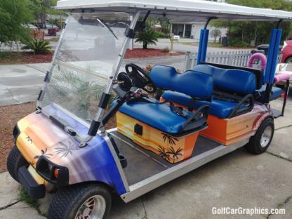 Hawaii-Sun-Set-golf-cart-wrap-kit