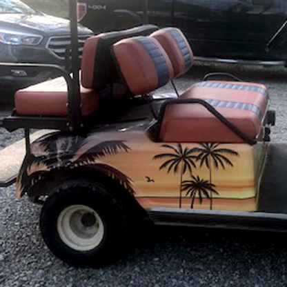 Hawaii-Sunset-Pass-Side golf car wrap