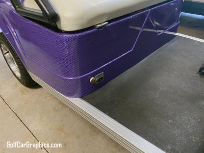 Purple---Black-Carbon-Fiber-full-body-golf-car-wrap universal fit