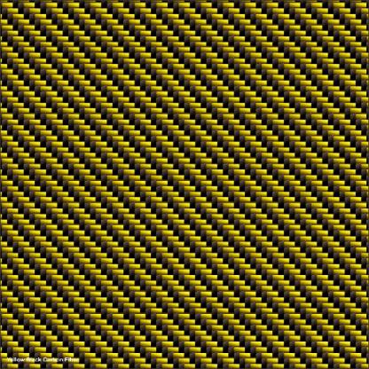 Yellow Black Carbon Fiber golf car wrap