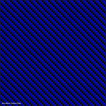 Blue Black Carbon fiber golf car wrap kit
