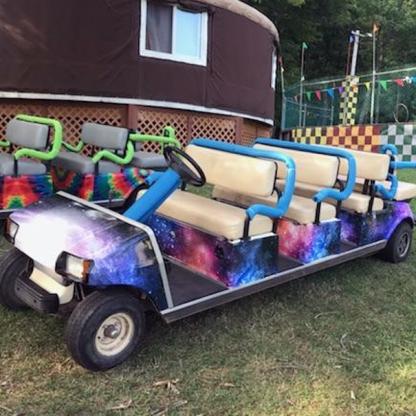 Galaxy Golf car wrap kit