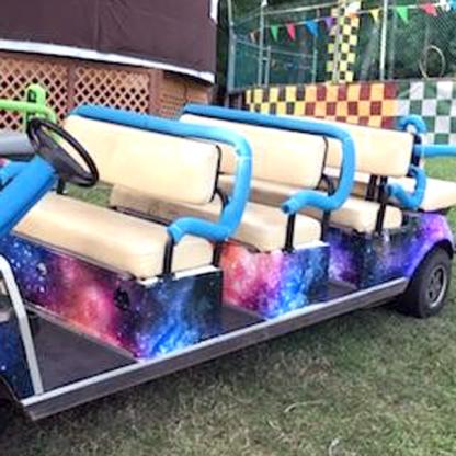 Galaxy Golf car wrap