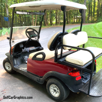Spark-Red-full-body-golf-car-wrap-on-Club-Car-Precedent.-Available-for-all-makes