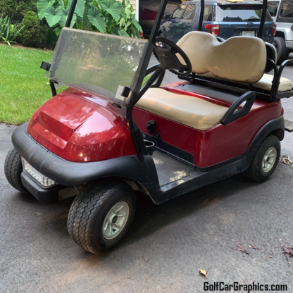 Spark-Red-full-body-golf-car-wrap kit
